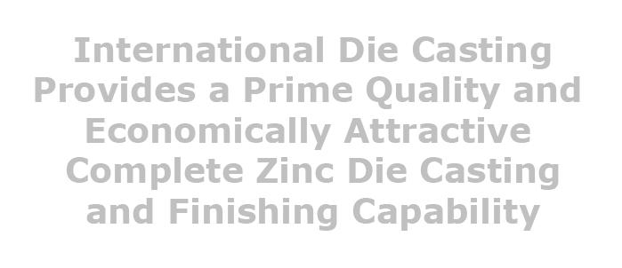 zinc die casting engineering for die cast parts